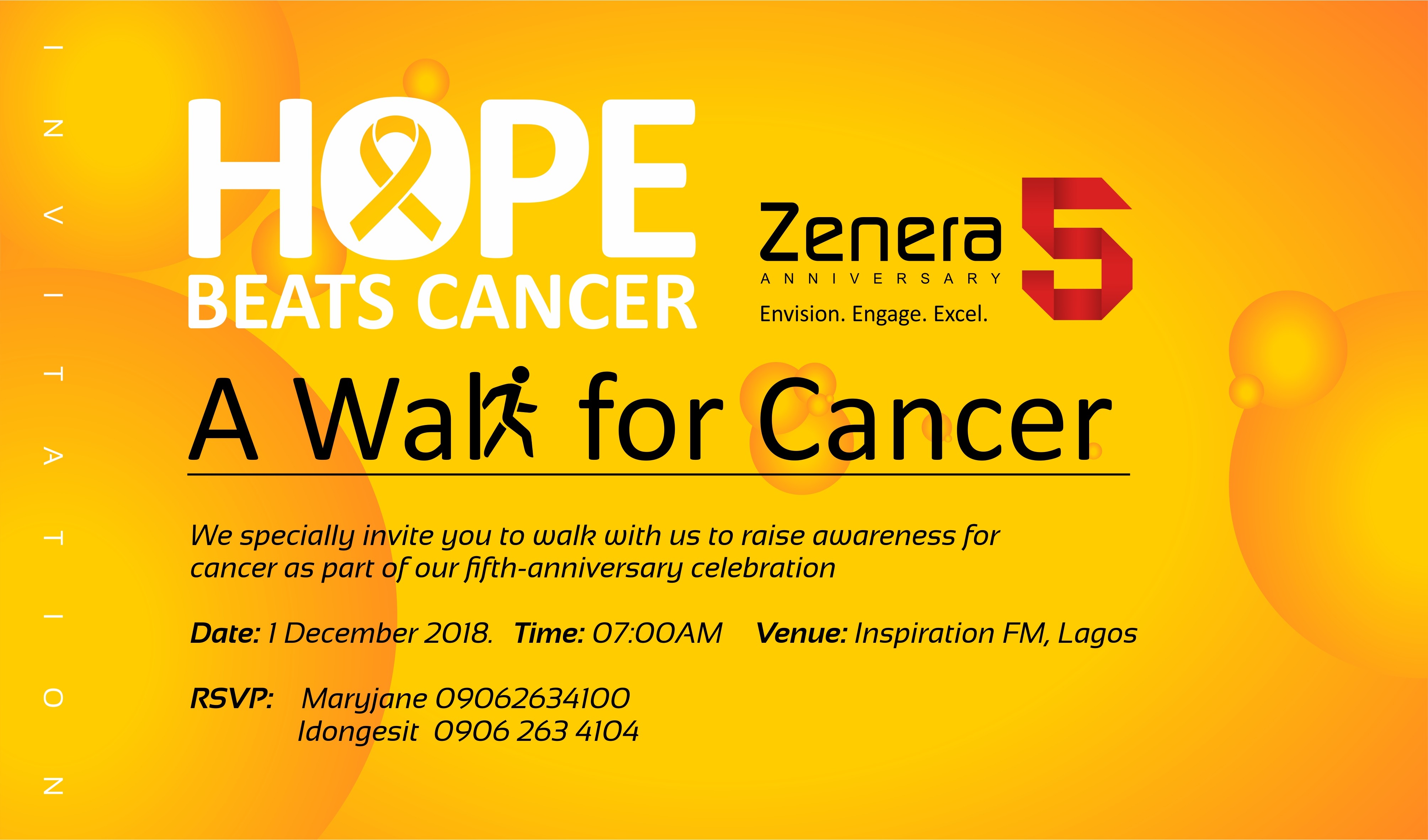 Zenera Consulting to celebrate 5th anniversary with walk for cancer